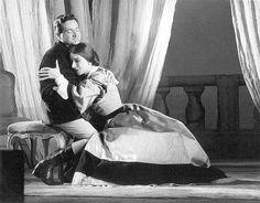 Cesare Valenti and Maria Callas as Alfredo and Violetta in Verdi's La Traviata