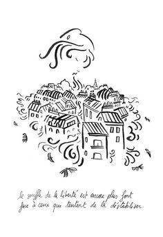 Joann Sfar - Attaques à Paris : les dessinateurs rendent hommage aux victimes - Elle