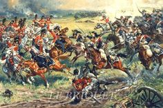 Charge of 5th Cuirassiers at Waterloo