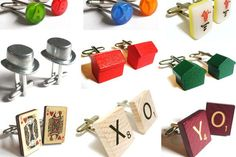 Here are old game pieces made into cuff links......what about earrings and necklace charms?