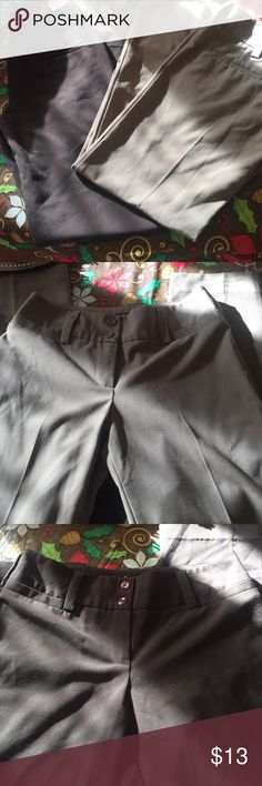 2 Pairs of Dress Pants wide Leg Size 5 EUC Great shape needs some Pants to wear to work or interviews? Get 2 great pairs tan and brown to quickly expand your wardrobe with basics that last! T.B.A. Pants Trousers