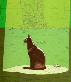 from moebius' collaboration with jodorowsky, les yeux du chat
