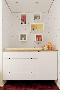 fresh, geometric nursery for a baby girl