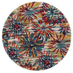 Aria Multicolor Round: 3 Ft Rug - (In Round)