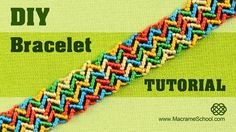 Colorful ZigZag Wave Bracelet Tutorial #Zigzag #Bracelet #Tutorial