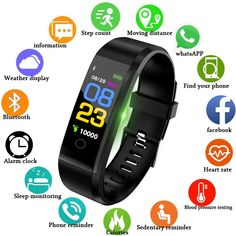 """Best Sale Shop - Buy """"LIGE New Smart Watch Men Women Heart Rate Monitor Blood Pressure Fitness Tracker Smartwatch Sport Smart Bracelet for ios android"""" from category """"Consumer Electronics"""" for only USD. Fitness Tracker, Fitness Sport, Fitness Goals, Fitness Band, Health Fitness, Men Health, Health Exercise, Gym Fitness, Bracelet Sport"""