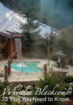 """The Scandinave Spa is a peaceful retreat in the woods around Lost Lake.""""Whistler Blackcomb: 32 Tips You Need to Know"""" http://solotravelerblog.com/solo-at-whistler-blackcomb-32-tips/"""