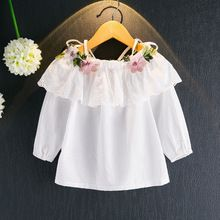 Fashion Kids Girls Shirt clothes floral children embroidery flower dress pure color girls shirt blouses for girl casual wear Outfits Niños, Shirt Embroidery, Floral Embroidery, Wedding Dress Patterns, Fashion Leaders, Girls Blouse, Long Blouse, International Fashion, Shirts For Girls