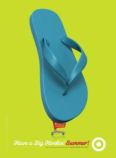 "Summer campaign for Target|""Having A Big Honkin' Summer!""  Agency: Target iH Sr. CD: Jason Langer CD: Jon Baugh Sr. Art Director: Allan Peters Jr. Art Director: Emily Reile Writer: Anna Stassen Illustrator: Tom DiTolla: Spectrum Studios"