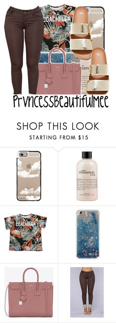 """"""""""" by prvncessbeautifulmee on Polyvore featuring Casetify, philosophy, ElevenParis, Yves Saint Laurent and H&M"""