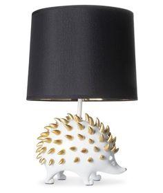Hedgehog Table Lamp Floor Lamp, Hedgehogs, Gold Foil, Diy Hedgehog House, Happy Hedgehog, Hedgehog Pet, White Table Lamp, Table Lamps, Desk Lamp