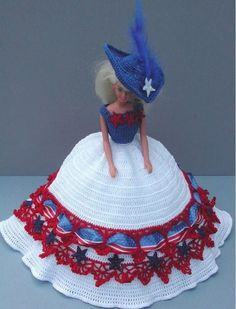 CROCHET FASHION DOLL PATTERN-#1 AMERICA AMERICA #ICSORIGINALDESIGNS