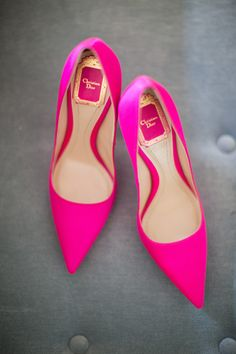Hot Pink Heels | Christian Dior | Southern Weddings | Photography by Armosa Studios