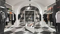 """Fashion boutique """"Who's Who""""made impact in the Milan fashion scene with its interior design 
