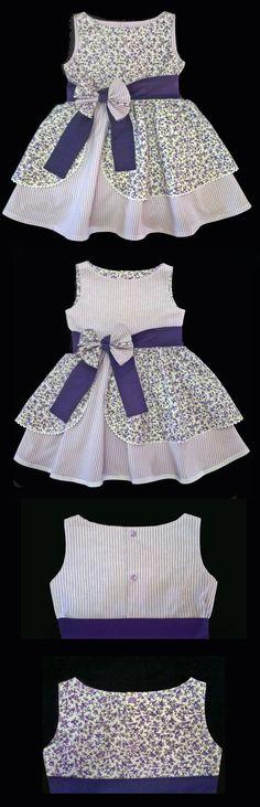 58 Super Ideas Dress Pattern Toddler Free For Girls Frocks For Girls, Kids Frocks, Little Dresses, Little Girl Dresses, Girls Dresses, Toddler Dress Patterns, Girl Dress Patterns, Pattern Dress, Sewing Patterns