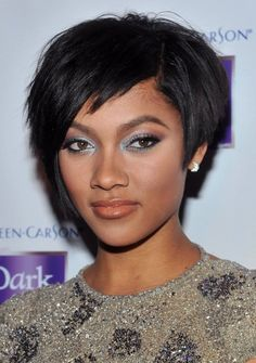 Cute Black Short Hairstyle for Homecoming and Prom - Homecoming Hairstyles 2014
