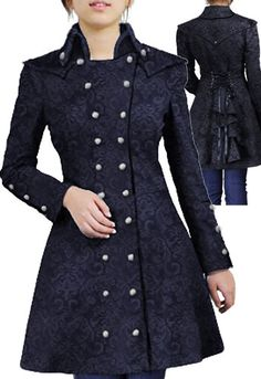 Victorian Military Coat in Jacquard by Amber Middaugh-- Oooh, perfect for a She-lock costume.