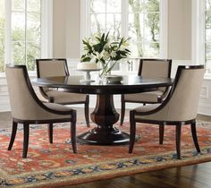 """Sienna Round from Brownstone. 56"""" but expands to 72"""" with perimeter extension leaves."""