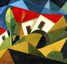 View PAESAGGIO By Enrico Prampolini; Access more artwork lots and estimated & realized auction prices on MutualArt. Italian Painters, Italian Artist, Futurism Art, Francis Picabia, Cubism Art, Piet Mondrian, Wow Art, Art Database, Arte Floral