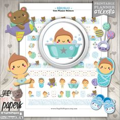 50%OFF - Baby Stickers, Planner Stickers, Planner Accessories, Baby Boy Stickers, Baby Shower Stickers, Boy Stickers, Stickers