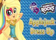 Rainbow Rocks Applejack Dress Up | juegos my little pony - jugar mi pequeño pony