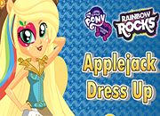 Rainbow Rocks Applejack Dress Up | juegos my little pony - jugar mi pequeño pony
