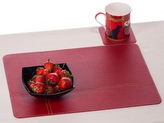 Placemats – Red placemat, table mat, table mat, placemat – a unique product by Nikalaz on DaWanda