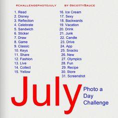 Instagram July Photo Challenge