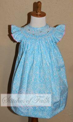 A few sizes left! Order on website www.stitchesoffaith.bigcartel.com #stitchesoffaith smocked clothing Smocked dresses