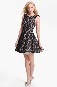 Can't decide if this or the ivory one is cuter.  Way-In Lace Overlay Skater Dress (Juniors)   Nordstrom