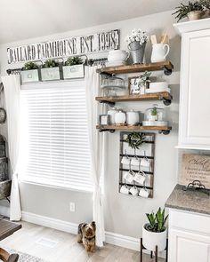 Farmhouse Style Kitchen, Modern Farmhouse Kitchens, Rustic Farmhouse, Country Kitchen, Kitchen Modern, Farmhouse Ideas, Farmhouse Sinks, Urban Farmhouse, Farm House Kitchen Ideas