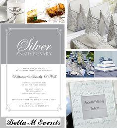 25th Wedding Anniversary Decorations And Ideas Aniversary Celebration