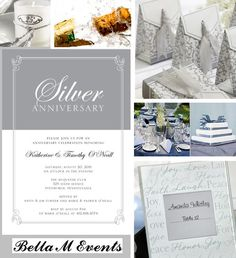 25th WEDDING ANNIVERSARY  DECORATIONS AND IDEAS