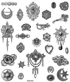 Victorian Brooches  can use it in designing card