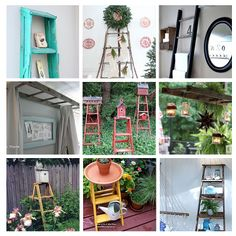 Got an old ladder lying around ? 23 uses for an old ladder via Hometalk!