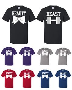 Couple Matching Beauty And Beast Shirts Funny Couple by TeeHunt, $15.89