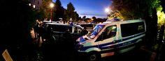 Polizei sichert eine Unterbringung von Asylbewerbern (Leonardo-Hotel) in Freital (Sachsen) | Bildrechte: dpa