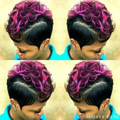 If you are looking for hairstyles that can allow you to comfortable while you are Quick Weave Hairstyles, Black Ponytail Hairstyles, Cute Hairstyles For Short Hair, Pixie Hairstyles, Hairdos, Short Sassy Hair, Short Hair Cuts, Short Hair Styles, Pixie Styles