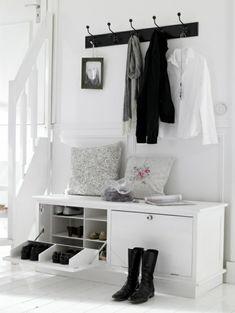 flur einrichten praktische möbel garderobenhaken