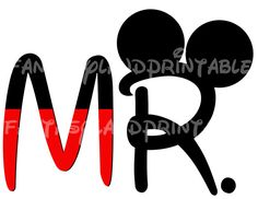 MR Mickey Mouse    DIY you print Printable Iron Transfer Disney Princess Wedding Bride Groom