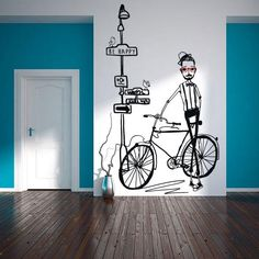 Tips for decorating your home with little money - Interior and Exterior Decoration - Decor Scan : The new way of thinking about your home and interior design Wall Painting Decor, Wall Art Decor, Decorating Your Home, Diy Home Decor, Modern Wall Stickers, House Decoration Items, Decoracion Low Cost, Interior And Exterior, Interior Design