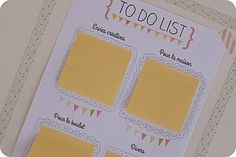 To do list + post-it = le combo gagnant !! great layout- just change words to English