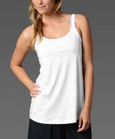 Love this White Built-In Bra Camisole - Women by Sheex on #zulily! #zulilyfinds