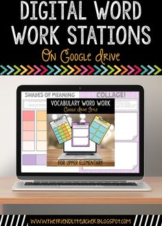 Word Work Stations all hosted on Google Drive! No prep involved word work stations for vocabulary words to use in Daily 5, Guided Reading or reading skill centers!