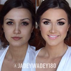 I like the before way better Not that makeup is bad but I personally like the style of the before more