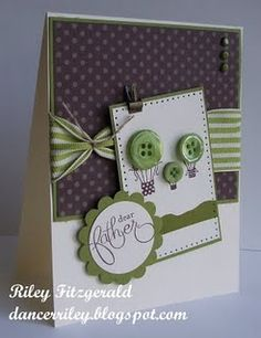 Dear Father by dancerriley - Cards and Paper Crafts at Splitcoaststampers Button Cards, Fathers Day Cards, Creative Cards, Unique Cards, Masculine Cards, Cool Cards, Scrapbook Cards, Homemade Cards, Stampin Up Cards