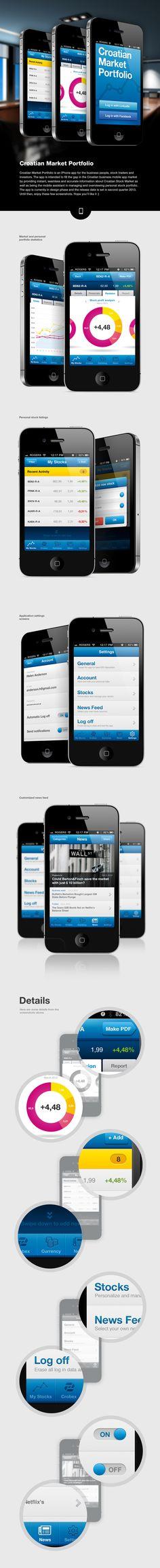 Croatian Market Portfolio (by Krešimir Kraljević) is an iPhone app for the business people, stock traders and investors.