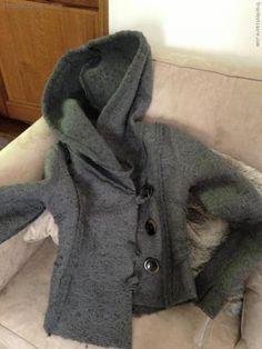 Troc echange occasion Veste en laine bouillie grise