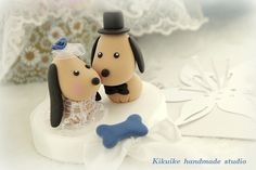 LOVE ANGELS Wedding Cake Topper-love dog by charles fukuyama, via Flickr