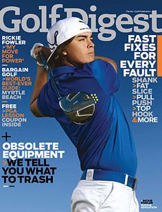 Ricky Fowler featured on the cover of Golf Digest!  #rickiefowler #pumagolf #athletes